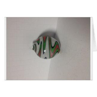 modelo blanco rojo verde del meneo de la peluca de tarjeta de felicitación