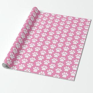 Modelo blanco rosado bonito de la impresión de la papel de regalo