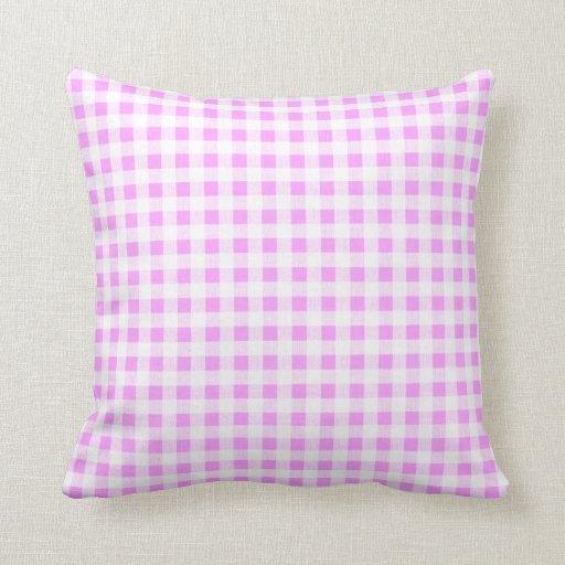 Modelo blanco rosado de la guinga almohadas
