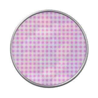 Modelo blanco rosado de la guinga jarrones de dulces