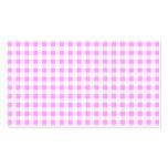 Modelo blanco rosado de la guinga tarjetas de visita