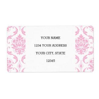 Modelo blanco rosado femenino del damasco del