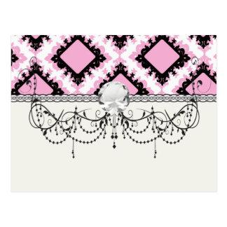 modelo blanco rosado intrépido del damasco del dia tarjetas postales