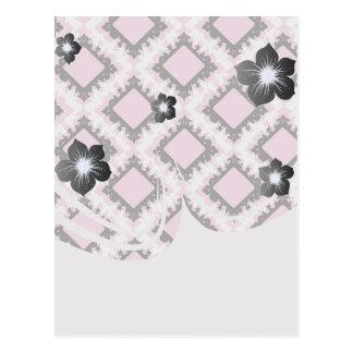 modelo blanco rosado intrépido del damasco del dia tarjeta postal