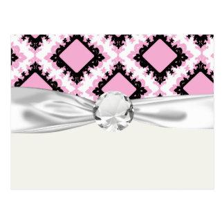 modelo blanco rosado intrépido del damasco del dia postal