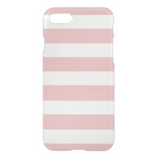 Modelo blanco rosado moderno de las rayas funda para iPhone 7