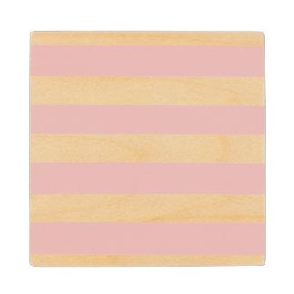 Modelo blanco rosado moderno de las rayas posavasos de arce