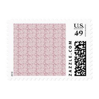 Modelo blanco rosado oscuro bonito del cordón timbres postales