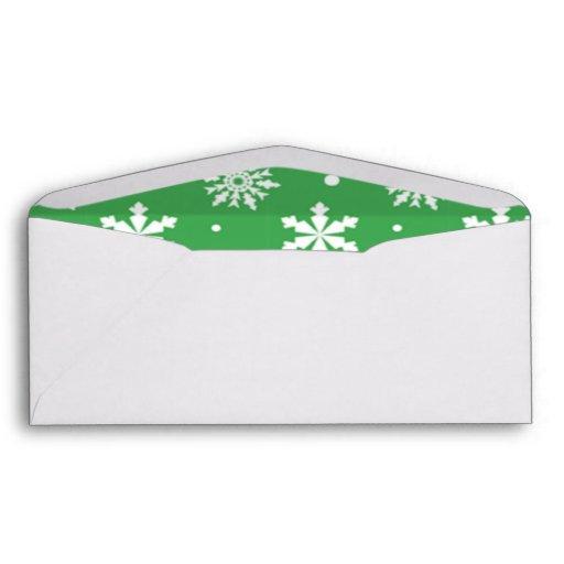 Modelo blanco verde 1 de los copos de nieve