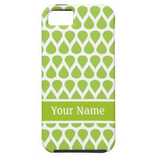 Modelo blanco verde del monograma iPhone 5 Case-Mate funda