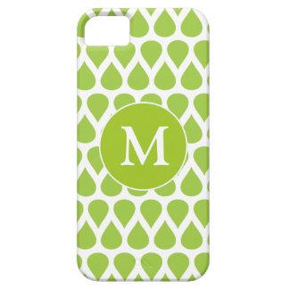 Modelo blanco verde del monograma iPhone 5 Case-Mate cárcasa