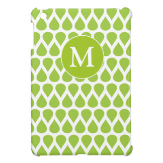 Modelo blanco verde del monograma iPad mini fundas