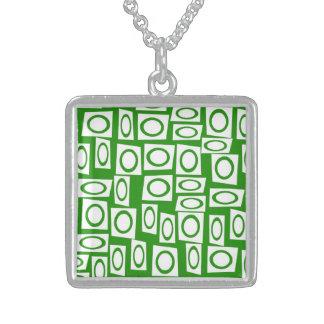 Modelo blanco verde loco del cuadrado del círculo joyerias