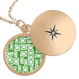 Modelo blanco verde loco del cuadrado del círculo grimpolas