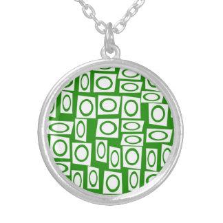 Modelo blanco verde loco del cuadrado del círculo pendiente