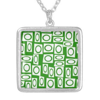 Modelo blanco verde loco del cuadrado del círculo joyerias personalizadas