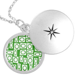Modelo blanco verde loco del cuadrado del círculo pendientes