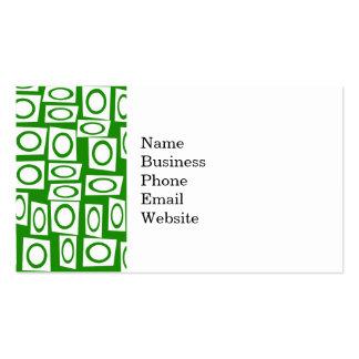 Modelo blanco verde loco del cuadrado del círculo tarjetas de visita