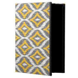 Modelo blanco y amarillo y gris de Quatrefoil Ikat