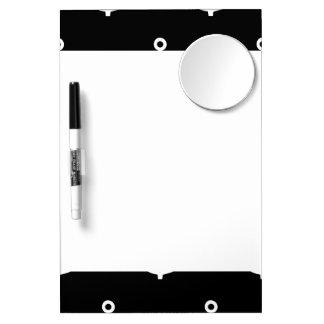 Modelo blanco y negro 1 de las anclas tableros blancos