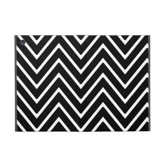 Modelo blanco y negro 2 de Chevron iPad Mini Fundas