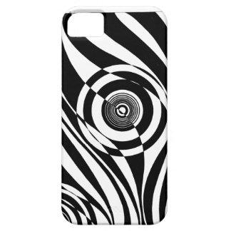 Modelo blanco y negro 3D Funda Para iPhone SE/5/5s
