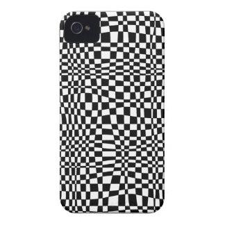 Modelo blanco y negro 3D iPhone 4 Protector
