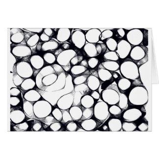 Modelo blanco y negro abstracto del círculo tarjeta