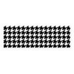 Modelo blanco y negro clásico de Houndstooth Plantillas De Tarjeta De Negocio