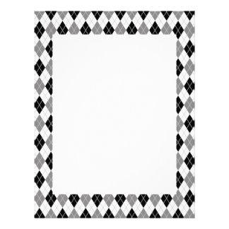 Modelo blanco y negro de Argyle Membrete A Diseño