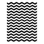 Modelo blanco y negro de Chevron del zigzag Postales