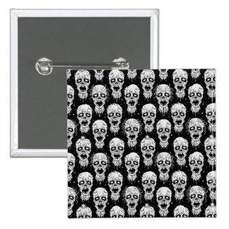 Modelo blanco y negro de la apocalipsis del zombi pins