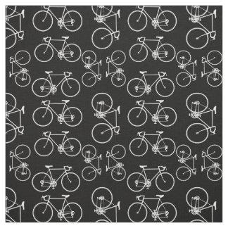 Modelo blanco y negro de la bicicleta telas