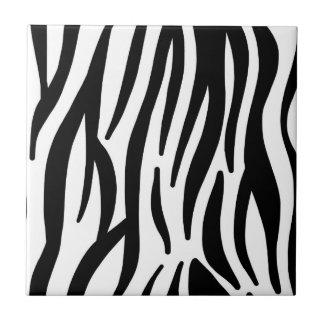 Modelo blanco y negro de la cebra azulejo cuadrado pequeño