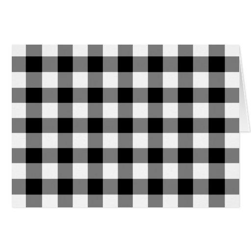 Modelo blanco y negro de la guinga felicitación
