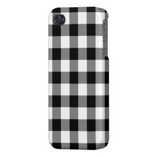 Modelo blanco y negro de la guinga iPhone 4 cárcasa