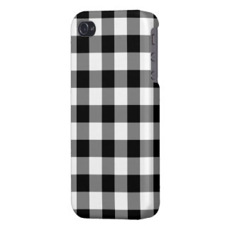 Modelo blanco y negro de la guinga iPhone 4 funda