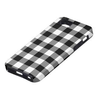 Modelo blanco y negro de la guinga iPhone 5 funda