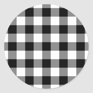 Modelo blanco y negro de la guinga pegatina redonda