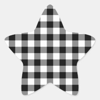 Modelo blanco y negro de la guinga calcomanía forma de estrella personalizadas