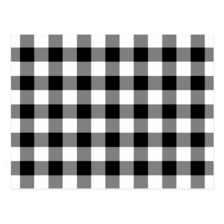 Modelo blanco y negro de la guinga postales