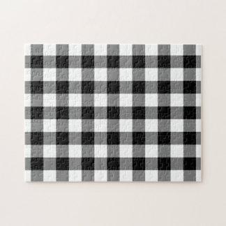 Modelo blanco y negro de la guinga puzzles con fotos