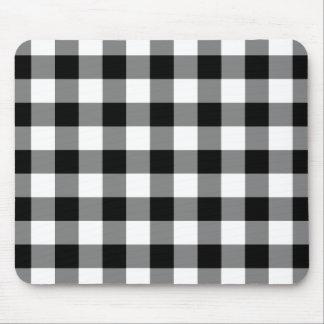 Modelo blanco y negro de la guinga tapetes de ratones