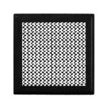 Modelo blanco y negro de la hoja cajas de joyas
