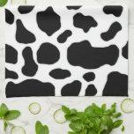 modelo blanco y negro de la impresión de la vaca toalla