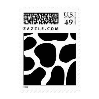 Modelo blanco y negro de la impresión de la vaca sellos