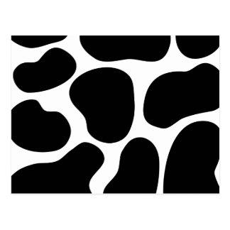 Modelo blanco y negro de la impresión de la vaca postales