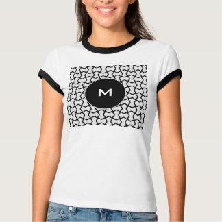 Modelo blanco y negro de la malla playeras