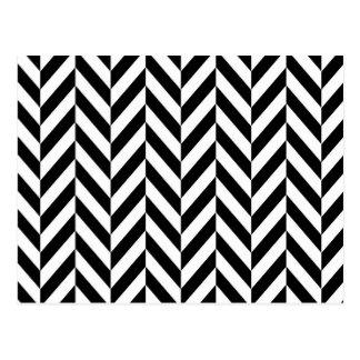 Modelo blanco y negro de la raspa de arenque postales