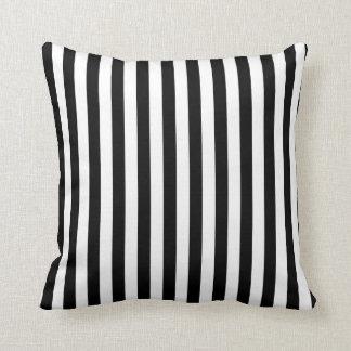 Modelo blanco y negro de la raya cojines